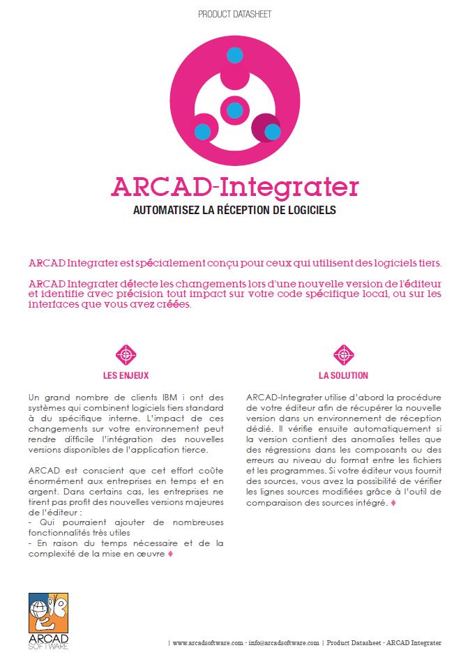 Automatisez la réception de logiciels avec Arcad Integrater