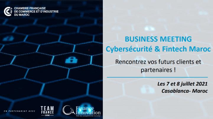 Banner - Business Meeting – Cybersécurité & Fintech Maroc
